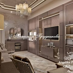 Ruang Multimedia oleh Дизайн-студия элитных интерьеров Анжелики Прудниковой, Klasik