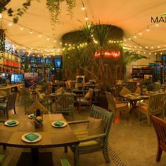Mái che quán bar Skylight Nha Trang:  Hiên, sân thượng by Công ty TNHH Havico Việt Nam,