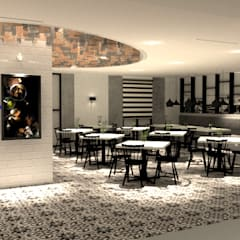 Kopitiam Interior Design Asian style dining room by LI A'ALAF ARCHITECT Asian