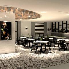 Kopitiam Interior Design:  Dining room by LI A'ALAF ARCHITECT