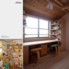 Dormitorios de niñas de estilo  por 一級建築士事務所 ネストデザイン
