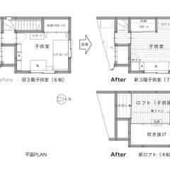 Спальни для девочек в . Автор – 一級建築士事務所 ネストデザイン