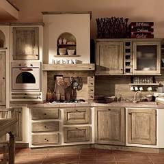Paolina di oggi finitura Gianduia: Cucina attrezzata in stile  di Zappalorto