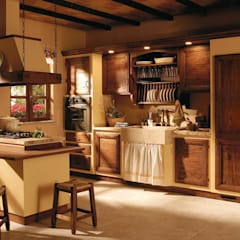 Built-in kitchens by Zappalorto, Rustic Solid Wood Multicolored