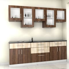 residential Projects :  Built-in kitchens by Maruthi Interio