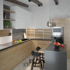 Интерьер загородного дома: Кухни в . Автор – Ksenia Cherkashyna