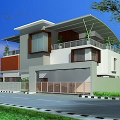 Dr. Ravindranath Residence:  Houses by Geometrixs Architects & Engineers