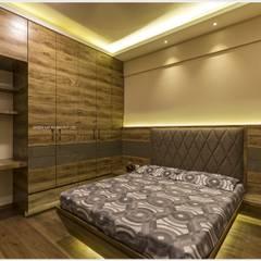 غرف نوم صغيرة تنفيذ GREEN HAT STUDIO PVT LTD
