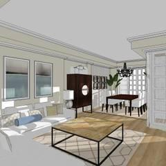 Salón de estilo clásico.: Salones de estilo  de RR Estudio Interiorismo
