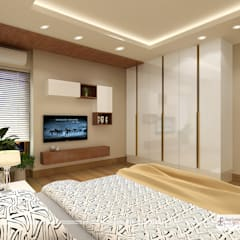 Bedroom - 1 T.V. wall:  Bedroom by Design Essentials