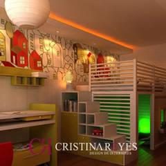 Quarto infantil: Quartos dos meninos  por Cristina Reyes Design de Interiores