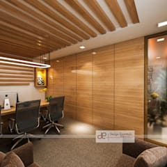 Office at NSP Delhi:  Study/office by Design Essentials