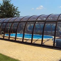 Zadaszenie basenu Gracja Exlusive: styl , w kategorii Basen zaprojektowany przez GRACJA SP. Z O.O.