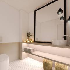 Apartamento, Matosinhos: Casas de banho  por MIA arquitetos