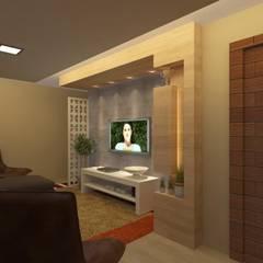 Estar e TV: Salas de estar  por Júlio Padilha Fabiani - Arquiteto,