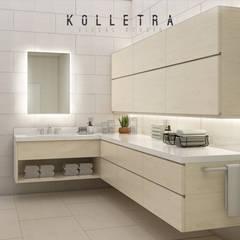 Renovasi Kamar Mandi, dan Kitchen Set Rumah Ibu Tita: Kamar Mandi oleh Kolletra Visual Studio,
