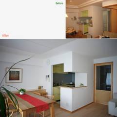 ビフォーアフター : 一級建築士事務所 ネストデザインが手掛けたキッチン収納です。