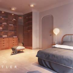 Antler İç Mimarlık – Nevşehir - Konut Projesi:  tarz Yatak Odası