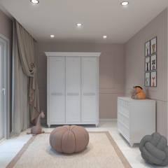Antler İç Mimarlık – Lale Gümüş bebek odası:  tarz Bebek odası
