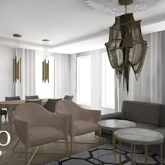 Interior referring to the French style:  Living room by BAYO  Design
