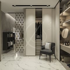 Modern Bedrooms Interior Design:  Dressing room by Comelite Architecture, Structure and Interior Design