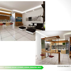 KITCHEN SET DAN INTERIOR LIVING ROOM:  Dapur built in by ARCHDESIGNBUILD7