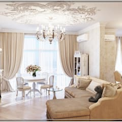 Бизе: Гостиная в . Автор – Студия дизайна Светланы Исаевой