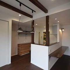 Built-in kitchens by Home Plan Kiyotake 一級建築士事務所 ㈱清武建設