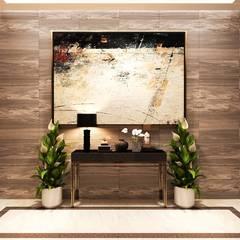 Thiết kế nội thất hiện đại căn hộ The Nassim - ICON INTERIOR:  Cửa ra vào by ICON INTERIOR, Hiện đại