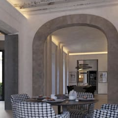 Carre de Sol, Palma:  Dining room by 4D Studio Architects and Interior Designers
