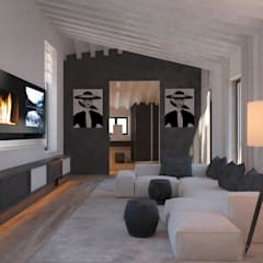 Carre de Sol, Palma:  Living room by 4D Studio Architects and Interior Designers