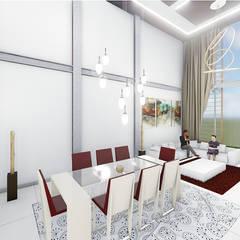 VIVIENDA UNIFAMILIAR : Comedores de estilo  por DECOESCALA ARQ JHON LEAL, Moderno Concreto