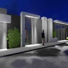 Portal - Vivienda : Paredes de estilo  por Analieth Reyes - Arquitectura y Diseño, Minimalista Piedra
