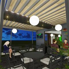 REMODELACION DE CAFÉ EURO BAR : Terrazas de estilo  por DECOESCALA ARQ JHON LEAL