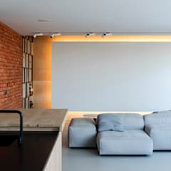 :  Living room by l i n e a r c h i t e c t s