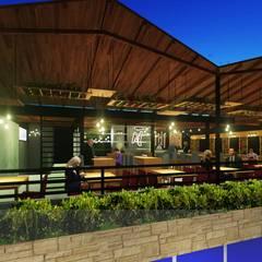 Bar - Cafe - Restaurant: Terrazas de estilo  por Analieth Reyes - Arquitectura y Diseño