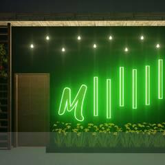 Bar - Cafe - Restaurant: Puertas principales de estilo  por Analieth Reyes - Arquitectura y Diseño,
