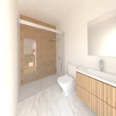 Vivienda M+I: Baños de estilo  de Z3 Arquitectura Interior