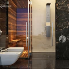 Bungalow at Bandar Enstek:  Bathroom by Norm designhaus, Modern