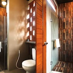 Bathroom by Mandalananta Studio, Tropical Bricks
