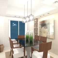 Diseño de interior de Casa El Carmel por 3G Arquimundo: Comedores de estilo  por Arquimundo 3g - Diseño de Interiores - Ciudad de Buenos Aires