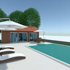 Diseño de interior de Casa El Carmel por 3G Arquimundo: Piletas de jardín de estilo  por Arquimundo 3g - Diseño de Interiores - Ciudad de Buenos Aires