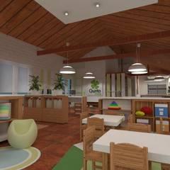 Diseño de Espacio de Educación Libre en Marcos Paz - Quinto Elemento por 3G Arquimundo: Escuelas de estilo  por Arquimundo 3g - Diseño de Interiores - Ciudad de Buenos Aires,Escandinavo