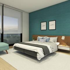Diseño Interior Casa La Reina: Dormitorios de estilo  por MM Design