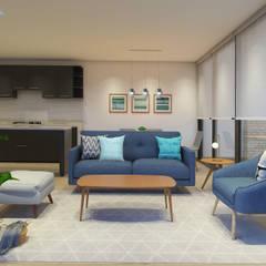 Propuesta Living: Livings de estilo  por MM Design