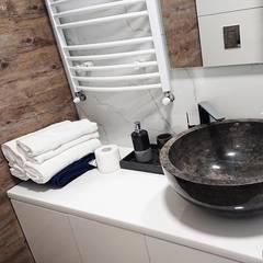 Owalna Umywalka z marmuru na blat czarna: styl , w kategorii Łazienka zaprojektowany przez Lux4home™