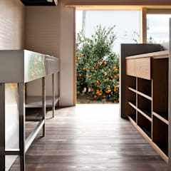 清水の家: 横山浩之建築設計事務所が手掛けたキッチン収納です。