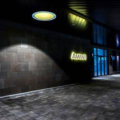 1F Rear Entrance Pilotis: 피투엔디자인  _____  p to n design의  호텔