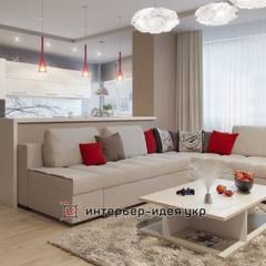 Проекты частных интерьеров:  Вітальня вiд Интерьер-Идея, Сучасний