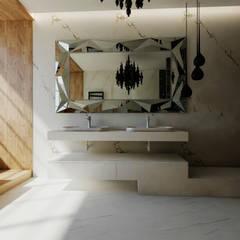 Современный интерьер в Киеве: Ванные комнаты в . Автор – дизайн студия Manhattan
